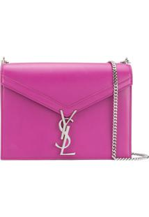 Saint Laurent Cassandra Shoulder Bag - Roxo