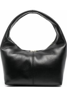 Frenzlauer Panier Leather Shoulder Bag - Preto