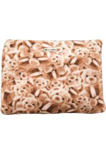 Cobertor Almofada Cuca Criativa Urso Rosa