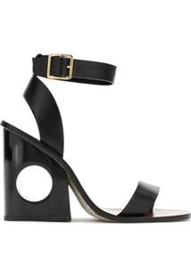A.Brand Sandália Salto Vazado - Metálico