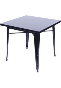 Mesa Retrã´- Preta- 75X80X80Cm- Or Designor Design