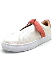Tênis Casual Laço Branco Dani K