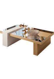 Mesa De Centro Para Sala De Estar Com Espelho Riad Freijã³/Off White - Gran Belo - Off-White - Dafiti