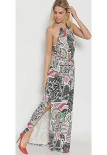 aa2bce0a91 Privalia. Vestido Triton Publish Floral Branco Rosa ...
