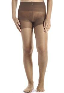 Meia Calça Invisível Fio 7 Loba Slim Lupo Feminina - Feminino-Marrom Escuro