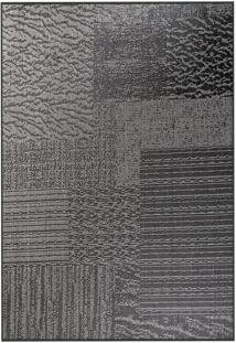 Tapete Sisllê Abstrato Viii Retangular Polipropileno (50X80) Preto