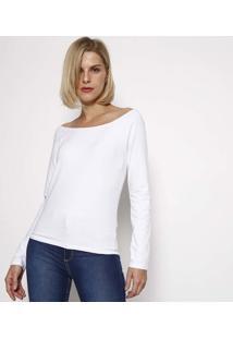 Blusa Lisa Ombro A Ombro - Brancahering