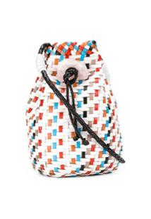 Missoni Bolsa Bucket Com Detalhe Trançado E Cordão De Ajuste - Branco