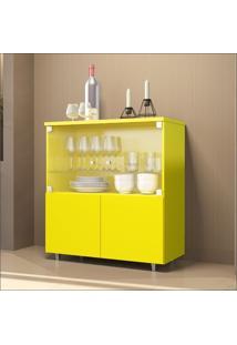 Cristaleira Bar 4 Portas Luxo 4000 Jb Bechara Amarelo