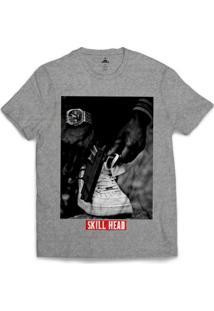 Camiseta Skill Head Civil Armado Masculina - Masculino-Cinza