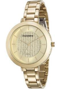 Relógio Mondaine 42Mm Aço Feminino - Feminino-Incolor