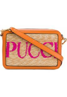 Emilio Pucci Bolsa Transversal Com Logo - Neutro