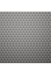 Papel De Parede Geométrico Cubo Mágico 52Cm Com 10 Metros Bege