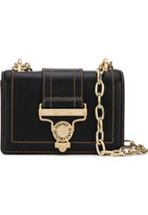 Versace Jeans Couture Bolsa Transversal Com Fivela - Preto