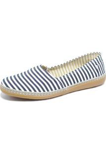 Alpargata S2 Shoes Lona Listrada Preto E Branco
