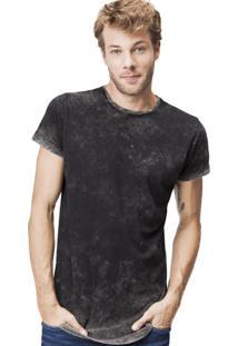 Camiseta Khelf Marmorizada Neon Preto