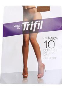 Meia Calça Trifil Fio 10 Dedinhos - Feminino-Marrom Escuro