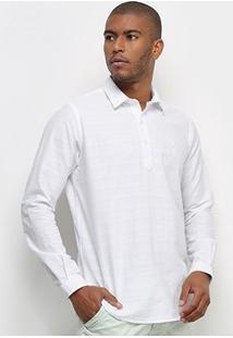 Camisa Aleatory Bata Linho Masculina - Masculino-Branco