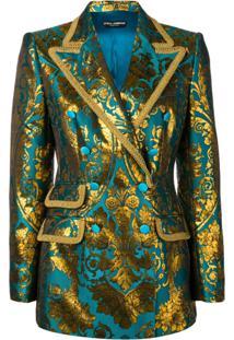 Dolce & Gabbana Blazer Turlington Com Abotoamento Duplo - Azul