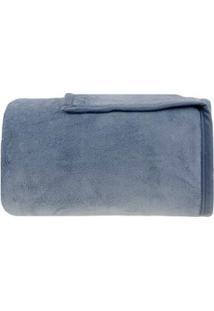 Cobertor Queen Size Em Microfibra Aspen Azul - Buddemeyer