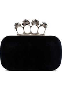 Alexander Mcqueen Four Ring Clutch - Azul