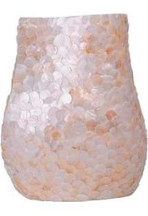 Vaso Decorativo De Madrepã©Rola Branca 29X24,5X18 Cm - Incolor - Dafiti