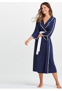 Robe Joge Robe Midi Malha Ivi Azul Marinho