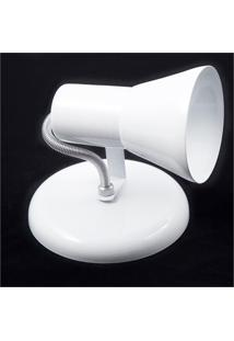 Spot De Sobrepor Em Alumínio Para 1 Lâmpada Sino Branco