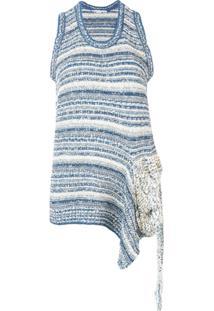 Stella Mccartney Blusa Desconstruída De Tricô - Azul