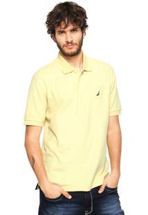 Camisa Polo Náutica Logo Amarela