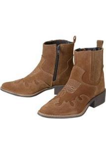 Bota Ankle Boot Dududias10 Rust Feminina - Feminino-Marrom