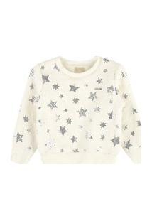 Blusáo Em Pelo Estrelas Off White Colorittá 8 Off-White