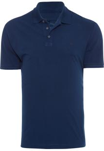 Polo Masculina Simple Basic Navy - Azul