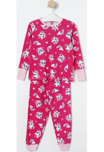 Pijama Unicórnio- Pink & Branco- Puketpuket