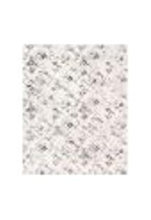 Tapete Retangular Condor Poliéster (50X100) Cinza E Off White