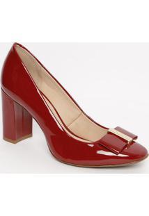 Sapato Tradicional Em Couro Com Tag - Vermelho - Saljorge Bischoff