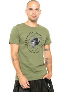 Camiseta Fiveblu Manga Curta The Soul Verde