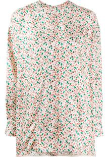 Marni Floral Printed Silk Blouse - Neutro