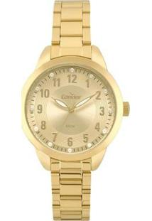 Relógio Condor Bracelete Feminino - Feminino-Dourado