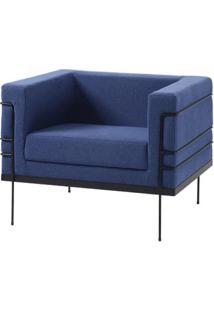 Poltrona Le Corbusier Azul Escuro Base Preta - 50169 - Sun House