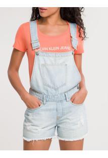 Macacão Jeans - Azul Claro - Pp