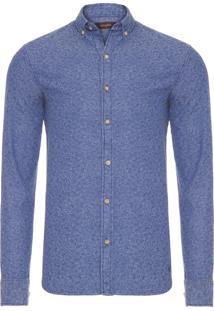 Camisa Masculina Frankie Jacquard - Azul