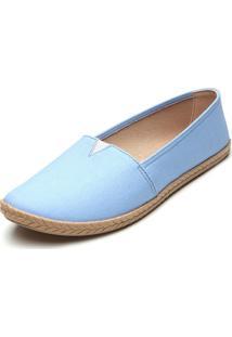 Alpargata Moleca Lisa Azul