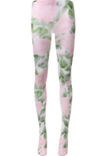 Richard Quinn Meia-Calça Pink Rose Com Estampa Floral - Rosa