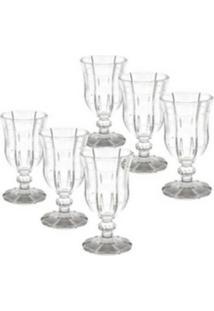 Conjunto 6 Taças De Vidro Transparente Para Vinho 260Ml Knot - Tricae