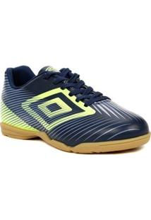 Tênis Futsal Masculino Umbro Speed Ii Azul Marinho/Verde