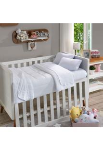 Fronha Para Travesseiro Infantil Soft Baby Lisa Branco - Sbx Tãªxtil - Branco - Dafiti