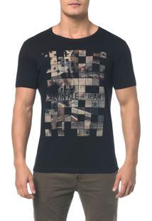 Camiseta Ckj Mc Est Band. Quadriculada Preto Camiseta Ckj Mc Est Band. Quadriculada - Preto - P