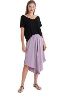 Calça Pantacourt Assimétrica Candy Color Feminina - Feminino