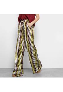 2a302b12d Calça Linho Pantalona feminina